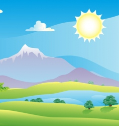 scenic summer landscape vector illustration vector image vector image