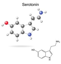 Serotonin molecule vector image vector image