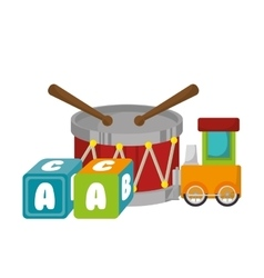 Set baby toys icon vector
