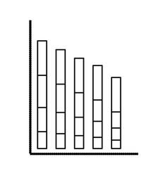 statistics bars graphic vector image vector image