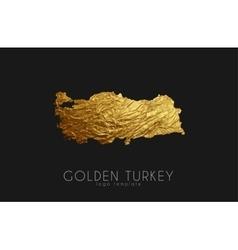 Turkey map Golden Turkey logo Creative Turkey vector image vector image