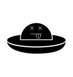 Ufo flying kawaii character vector