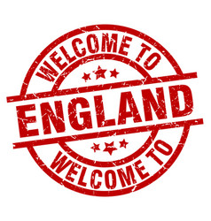 Welcome to england red stamp vector