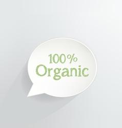 100 Percent Organic vector image vector image