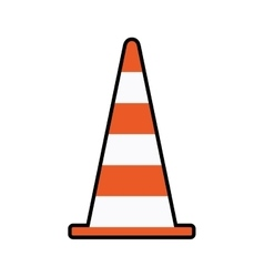 Cone orange under construction repair icon vector