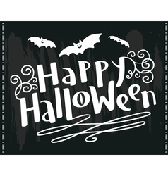 Happy halloween hand-drawing lettering vector