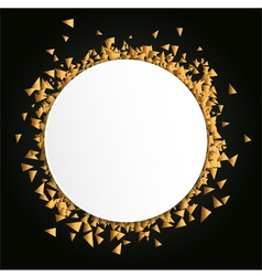 Gold blank celebration background vector