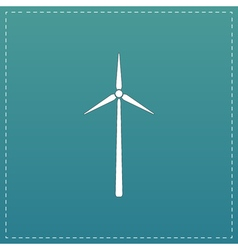 Windmill flat icon vector