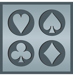 Poker card icons vector image