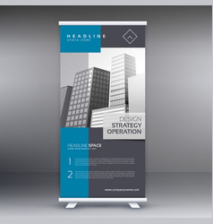 Professional modern roll up banner presentation vector