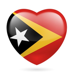 Heart icon of east timor vector