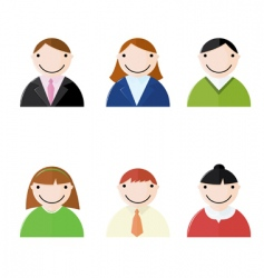 Office people icons vector