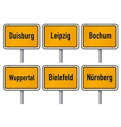 City limits signs of major german cities part 3 vector