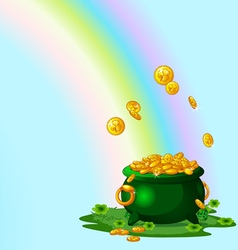 Pot of gold vector