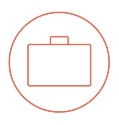 Briefcase line icon vector