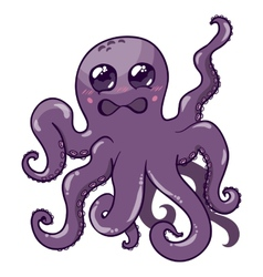 a purple octopus vector image vector image