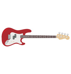 an electric guitar with strings vector image vector image