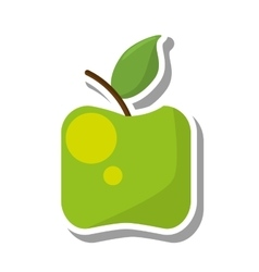 Apple healthy fruit icon vector
