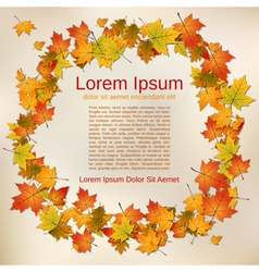 Autumn old paper background vector image