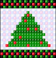Background gloss christmas tree vector