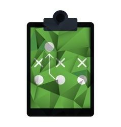 Board tactical diagram american football abstract vector