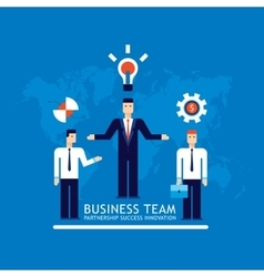 Business team businessman successful teamwork vector