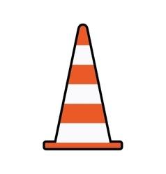 Cone orange under construction repair icon vector