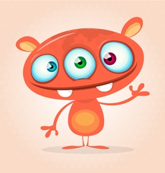 Cute cartoon monster alien vector