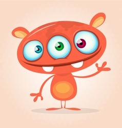 Cute cartoon monster alien vector image