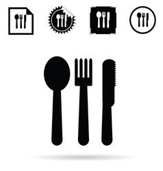 cutlery black silhouette vector image