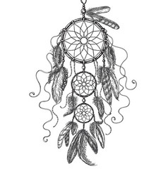 Dream catcher sketch vector