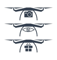 Drone icons vector