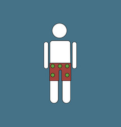 flat icon design collection man in underwear cloth vector image vector image