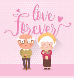 happy old couple vector image vector image