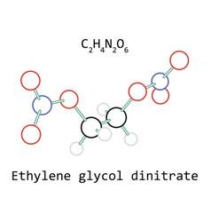 molecule ethylene glycol dinitrate c2h4n2o6 vector image vector image