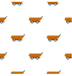 Orange car trailer pattern flat vector