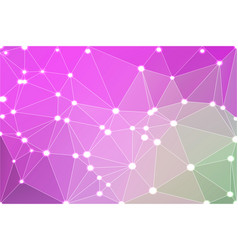 purple green pink geometric background with mesh vector image vector image