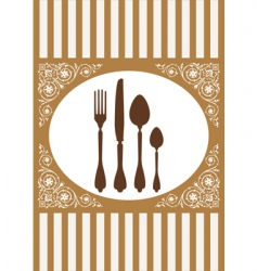 restaurant card vector image