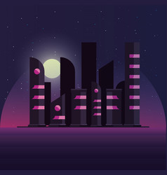 Retro futuristic design vector