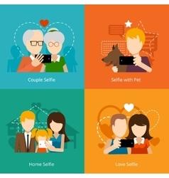 selfie design concepts vector image vector image