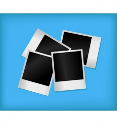 set of empty photos vector image vector image