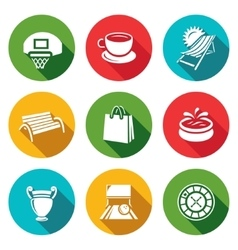 Set of Recreation and Entertainment Icons vector image