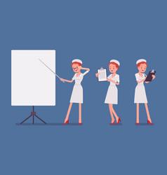 sexy nurse at presentation vector image