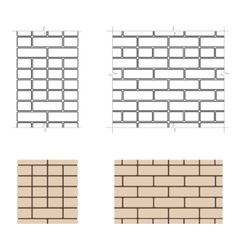 Six-row brick masonry vector