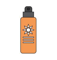 Sunblock or sunscreen icon image vector