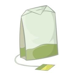 Teabag of green tea icon cartoon style vector