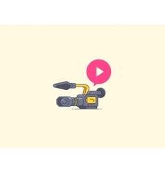 Video camera icon recording and playback vector
