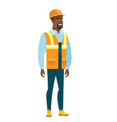Young african-american confident builder vector