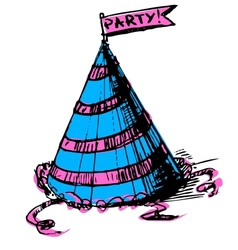 Party cap decorated vector