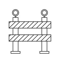 Barrier restricted street stripe design outline vector